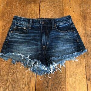 AEO stretch vintage Hi-Rise festival shorts size 0